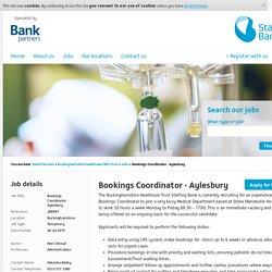 Bookings Coordinator - Aylesbury