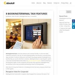 8 BookingTerminal Taxi Features - Cabsoluit