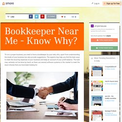 Bookkeeper Near Me - Know Why?