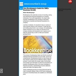 How Bookkeepers Useful for SMEs Business Growth