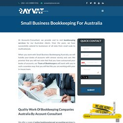 Small Business Bookkeeping Australia