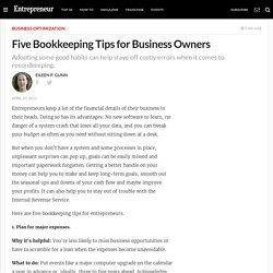 Five Bookkeeping Tips for Business Owners