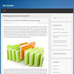 bookkeeping document management