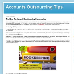 The Best Advises of Bookkeeping Outsourcing