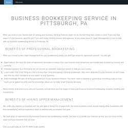 Business Bookkeeping in Pittsburgh, PA