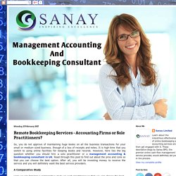 Remote Bookkeeping Services - Accounting Firms or Sole Practitioners?