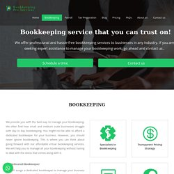 Virtual Bookkeeping Services for your business growth.