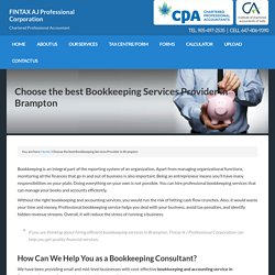 Bookkeeping Services Provider Brampton