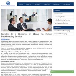 Benefits to a Business in Using an Online Bookkeeping Service - Washington Bookkeeping Services