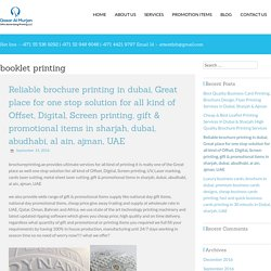 cheap and best brochure design & printing press in Dubai