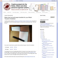 Make lined and grid paper booklets for your Midori Traveler's Notebook