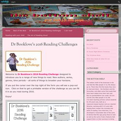 Dr Booklove's 2016 Reading Challenges