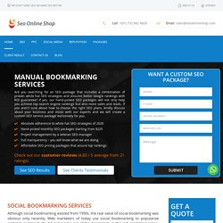 Manual Social bookmaking submission service.