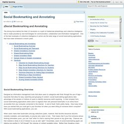 Social Bookmarking and Annotating