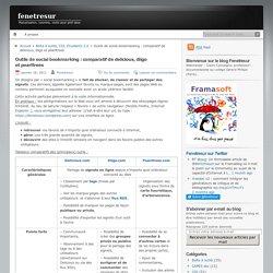 Outils de social bookmarking : comparatif de delicious, diigo et pearltrees