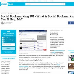 Social Bookmarking – What is Social Bookmarking?