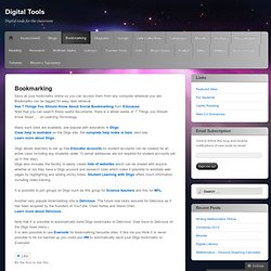 Bookmarking « Digital Tools