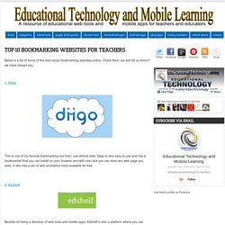 Top 10 Bookmarking Websites for Teachers