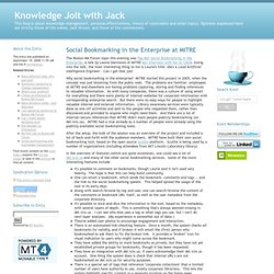 Social Bookmarking in the Enterprise at MITRE