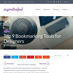 Top 9 Bookmarking Tools for Designers