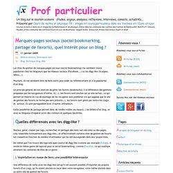 Les principaux sites de social bookmarking, marques-pages sociaux et partage de favoris