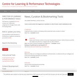 News, Curation & Bookmarking Tools – Directory of Learning & Performance Tools