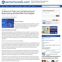 In Search of Tags Lost: Combining Social Bookmarking and SemWeb Technologies