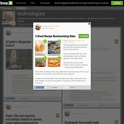 3 Great Recipe Bookmarking Sites | technologies