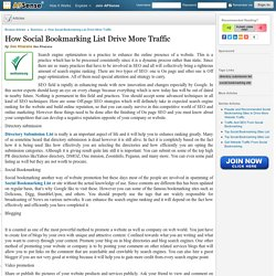 How Social Bookmarking List Drive More Traffic by Seo Khazana