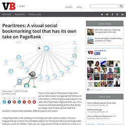 Pearltrees: A visual social bookmarking tool that has its own ta
