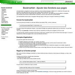 Bookmarklet : Ajouter des fonctions aux pages