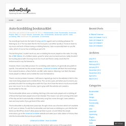 Auto-Scrobbling bookmarklet « andrewBridge
