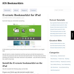 Evernote Bookmarklet for iPad — iOS Bookmarklets