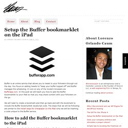 Setup the Buffer bookmarklet on the iPad