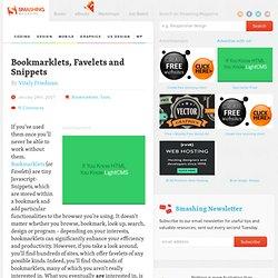 Bookmarklets, Favelets et extraits