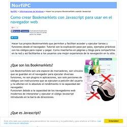 Como crear Bookmarklets con Javascript para usar en el navegador web