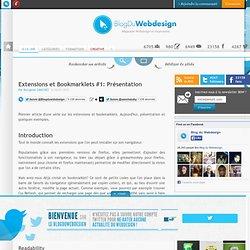 Extensions et Bookmarklets #1: Présentation - ressources