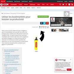Utiliser les bookmarklets pour booster sa productivité