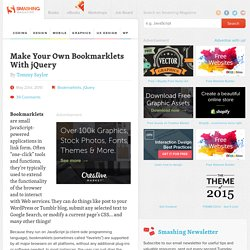 Make Your Own Bookmarklets With jQuery