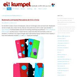 Marcadores de livro elivros - Blog - eikumpel