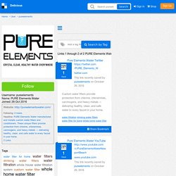 PURE Elements Water's Bookmarks (User pureelements)