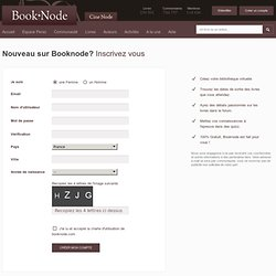 Page de login/inscription - Booknode.com