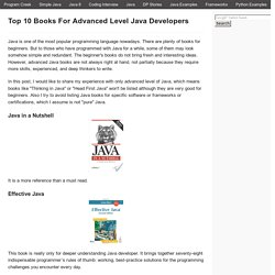 Top 10 Books For Advanced Level Java Developers