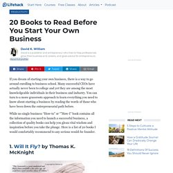 20 Books to Read Before You Start Your Own Business