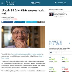 Books Bill Gates thinks you should read