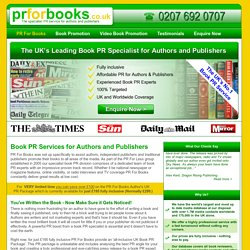PR For Books - Book PR For Authors and Publishers
