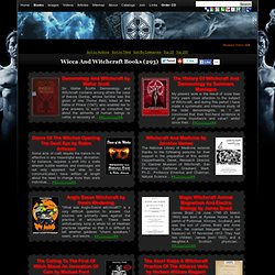 Books In Wicca And Witchcraft Category - Books On Occult, Esoteric, Magic, Rare Books And Texts. Grimoires, Spellbooks, Manuscripts.