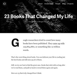 23 Books That Changed My Life · Collaborative Fund