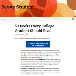 53 Books Every College Student Should Read