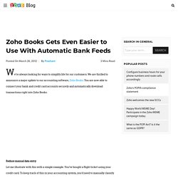 Books Gets Even Easier to Use With Automatic Bank Feeds